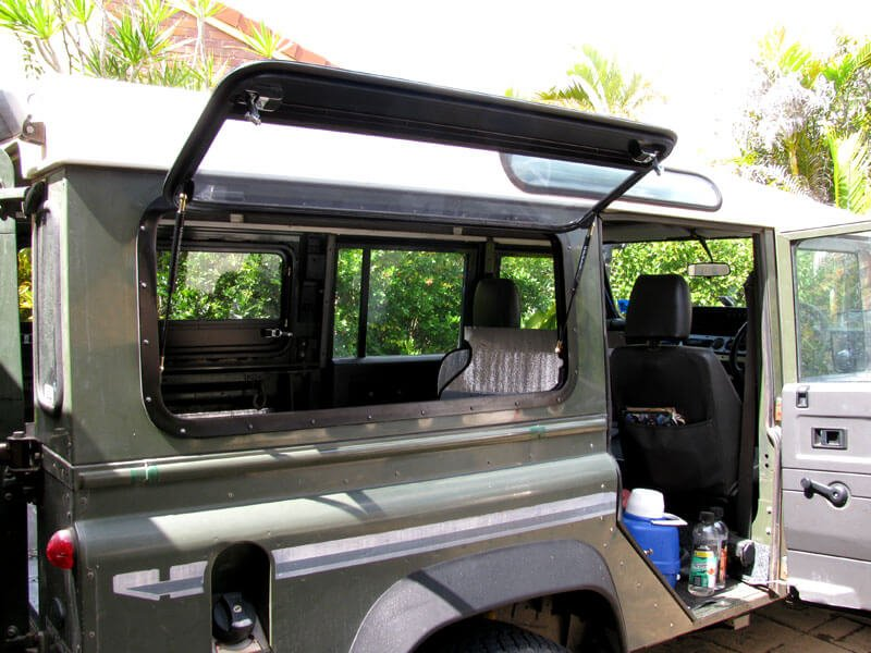 defender gullwing door installation